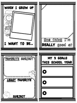 Back to School Time Capsule Mini-Booklet