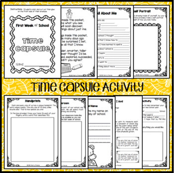 Back to School Time Capsule Project