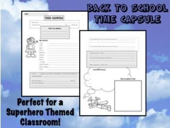 Back to School Time Capsule - Superhero Themed