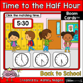 Back to School Time to the Half Hour Boom Cards - Digital