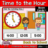 Back to School Time to the Hour Boom Cards - Digital Dista