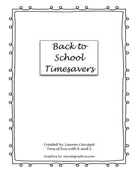 Back to School Timesavers