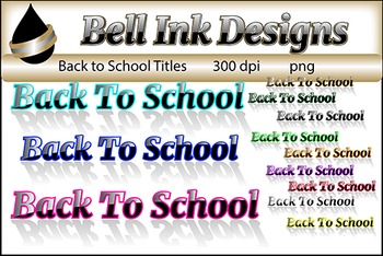 Back to School Title Clipart