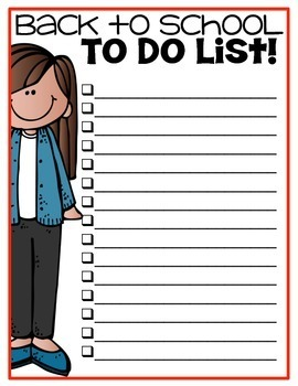 Back to School To Do List {Freebie}