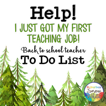 Back to School To Do List for New Teachers