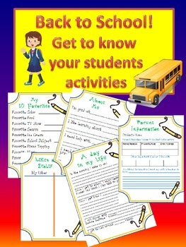 Back to School: To know me is to like me Student Information