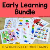 Back to School Toddler Activities Busy Binder and Learning