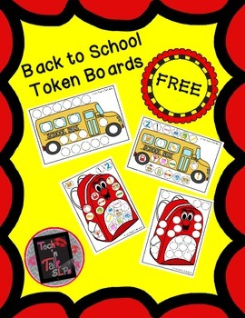 Back to School Token Boards