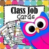 Updated! Back to School Editable Classroom Job Task Cards: Cute Owl Theme