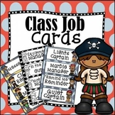 Back to School Editable Classroom Job Task Cards Pesky Pirate Theme - Updated!