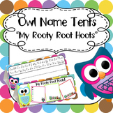 Back to School Editable Name Tents: Cute Owl Theme