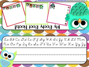 Back to School Editable Name Tents: Cute Owl Theme