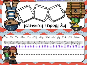 Back to School Editable Name Tents: Pesky Pirate Theme