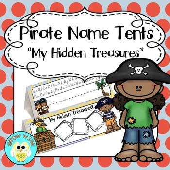 Back to School Editable Name Tents: Pesky Pirate Theme