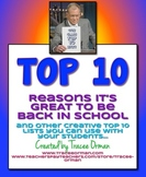 Free Beginning of Year {or ANYTIME} Top 10 Lists Activity