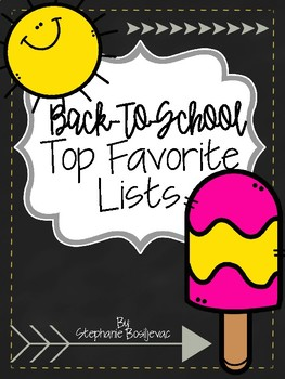 Back to School Top Favorite Lists