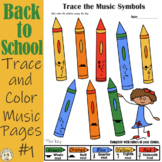 Back to School: Trace and Color music sheets