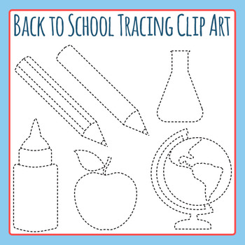 Back to School Tracing Clip Art Commercial Use