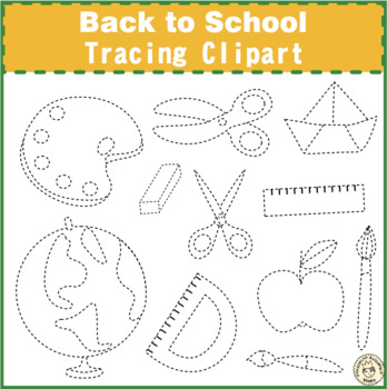 Back to School Tracing Clipart