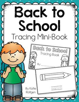 Back to School Tracing Mini-Book