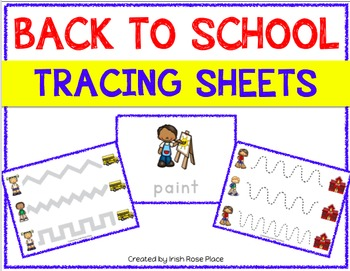 Back to School Tracing Sheets