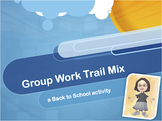 Back to School Trail Mix Group Characteristics activity