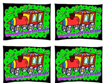 Back to School Train Postcards