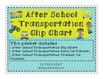 Back to School Transportation Clip Chart