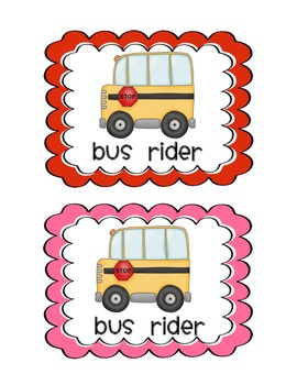 Back to School Transportation Clip Charts