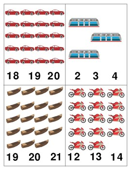 Transportation: Count and Clip Cards for Math Centers