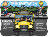 Back to School Transportation Graph {TEKS Alinged}