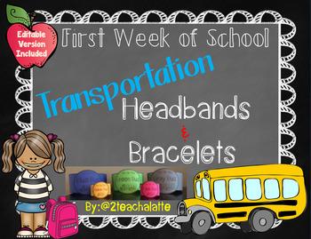 Back to School Transportation Headbands & Bracelets
