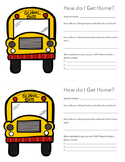 Back to School Transportation Cards