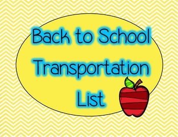 Back to School- Transportation List