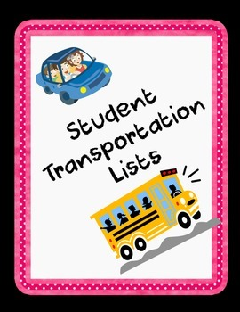 Back to School - Transportation Lists for Students