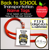 Back to School Transportation Name Tags {How Do We Get Hom