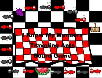 Back to School Traveling Ants I Know My Manners Board Game B2S