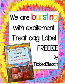Back to School Treat Bag Label Freebie