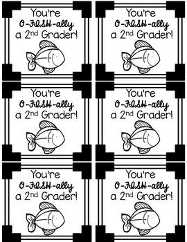 Back to School Treat Bag Labels for grades K-5