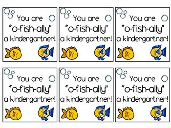 "Back to School Treat Label ""You are o-fish-ally a..."""
