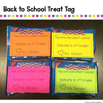 Meet the Teacher Treat Tag