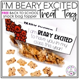 Back to School Treat Tag   I'm Beary Excited   FREEBIE