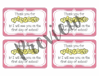 Back to School Treat Tags