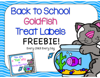 Back to School Treat Tags for Goldfish Crackers