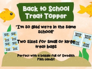 Back to School Treat Toppers: Two Sizes!