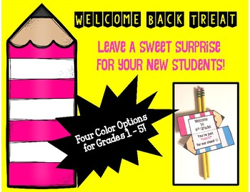 Back to School Pencil Treat for Students