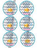 Back to School, Treat tags, labels, goldfish, first day, w