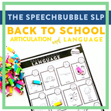 Back to School Trifecta: Articulation and Language