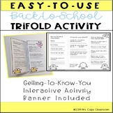 Back-to-School Trifold Activity