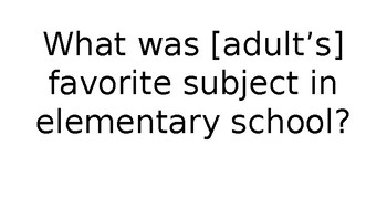 Back to School Trivia Activity